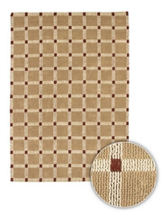 Chandra Rugs Art ART3517 Contemporary Natural Jute Rug