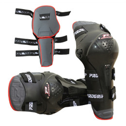 Pro Grip 5991 Motocross Knee Guards Black Adult