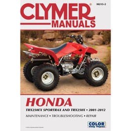 Clymer M215-2 Service Shop Repair Manual Honda TRX250EX Sportrax TRX250X 01-12