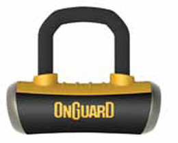 OnGuard 8048C Boxer Disc Lock with Pouch & Reminder Orange