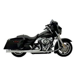 Kerker 2:1 Super Megs Full Exhaust HD FLH / FLT 2009 Chrome