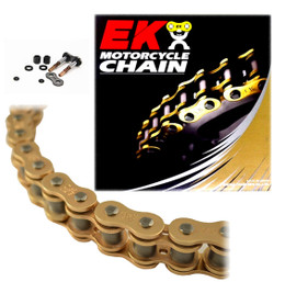 EK 520SRX2 Gold Sport Race QX-Ring Motorcycle Chain (Screw Master)