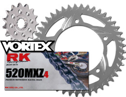 RK Vortex Blk MX Alu QA Chain and Sprocket Kit for KAW KX125 98-99