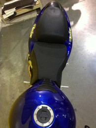 TechSpec C3 Grip Motorcycle Seat Pad Pattern 4