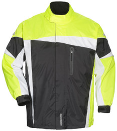 Tourmaster Defender 2.0 Black Hi-Viz Two-Piece Rain Suit