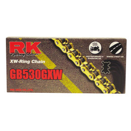 RK GB530GXW Ultra High Performance Sport Road Race XW-Ring Gold Motorcycle Chain