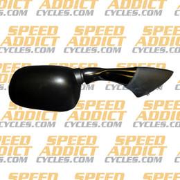 EMGO OEM Replacement Mirror for 03-05 Yamaha FJR1300 Left Side Black (20-80522)