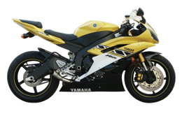 Jardine GP1 Polished Slip On Exhaust System Muffler Yamaha YZF-R6 06-12