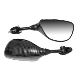 EMGO OEM Replacement Mirror for 03-04 Kawasaki ZX600RR/636 Left Side Carbon