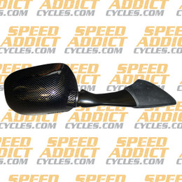 EMGO OEM Replacement Mirror for 03-05 Yamaha FJR1300 Right Side Carbon
