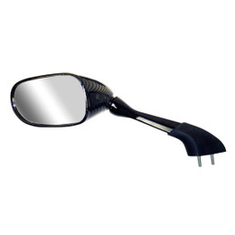 EMGO OEM Replacement Mirror for 01-05 Yamaha FZ1/FZS1000 Left Side Carbon