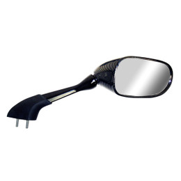 EMGO OEM Replacement Mirror for 01-05 Yamaha FZ1/FZS1000 Right Side Carbon