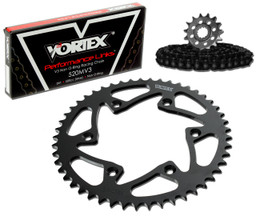 Vortex CK2102 Chain and Sprocket Kit MXS HON CR125R 87-96, 98-99 (1U,STL)