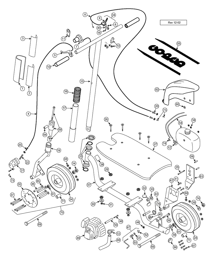 parts - discontinued scooter parts - bigfoot