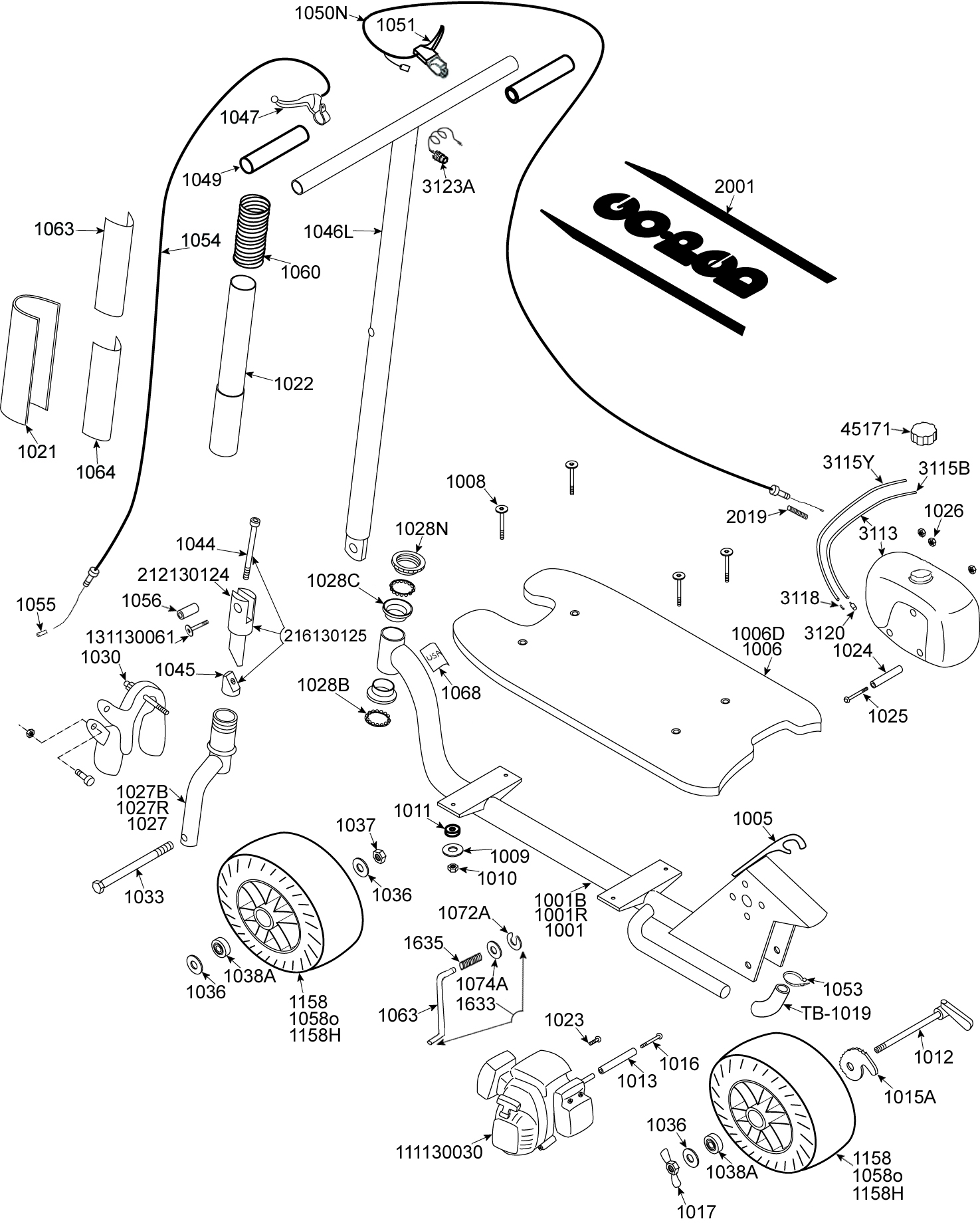 parts - gas scooter parts - sport