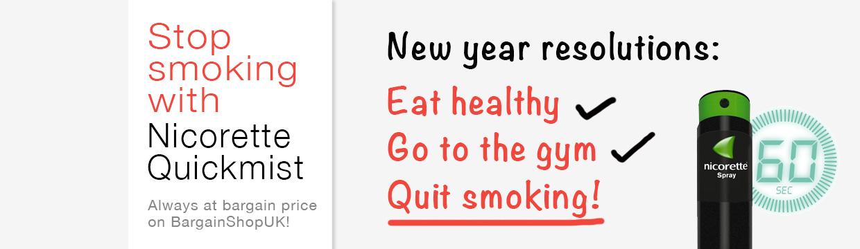 Quit smoking with Nicorette QuickMist