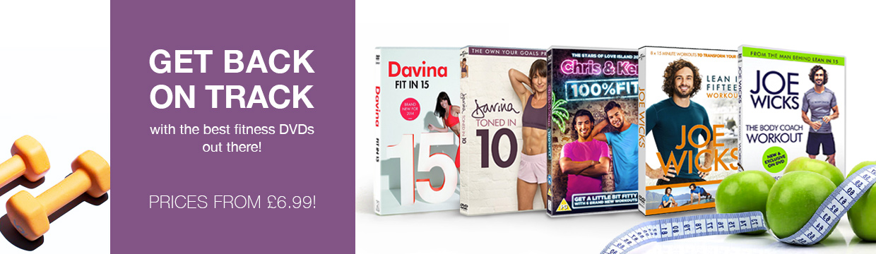 Get back on track with fitness DVDs