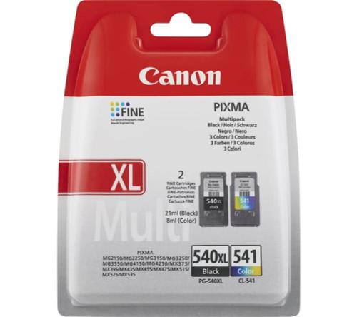 CANON PG-540 XL/CL-541 Black & Tri-colour Ink Cartridges - Twin