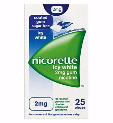 Nicorette Icy White Gum Nicotine 2mg