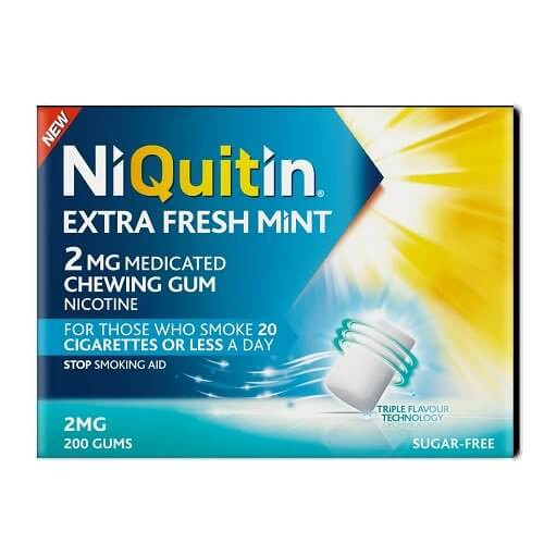 NiQuitin Extra Fresh Mint Chewing Gums, 2mg