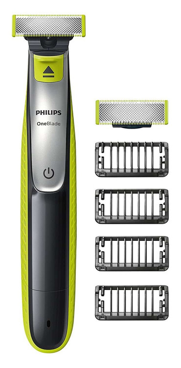 Philips OneBlade QP2530/25 Hybrid Trimmer and Shaver 4 Stubble Combs