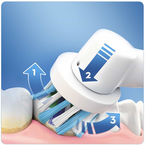 Oral-B Smart Series 4000 Cross Action Electric Rechargeable Toothbrush Powered by Braun - Ships with a UK 2 pin plug