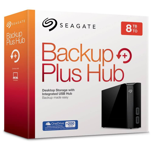 Seagate Backup Plus Hub 8 TB USB 3.0 Desktop, 3.5 inch External Hard Drive for PC and Mac with Integrated 2 Port USB Hub