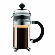 Bodum CHAMBORD Coffee Maker French Press Cafetiere, 0.35 L/12 oz - Shiny