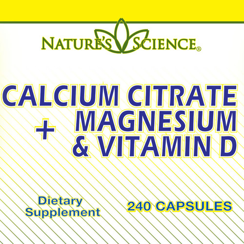 Calcium Citrate with Magnesium & Vitamin D (240 Tablets)
