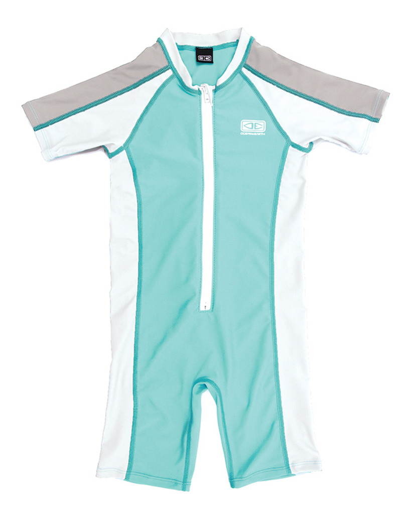 Toddler Zip Front Sun Suit - Mint