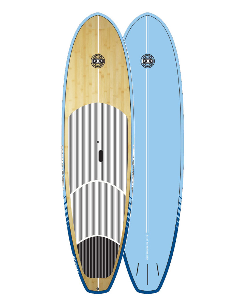 Cruiser Epoxy/Bamboo SUP Board - Aqua 10'0""