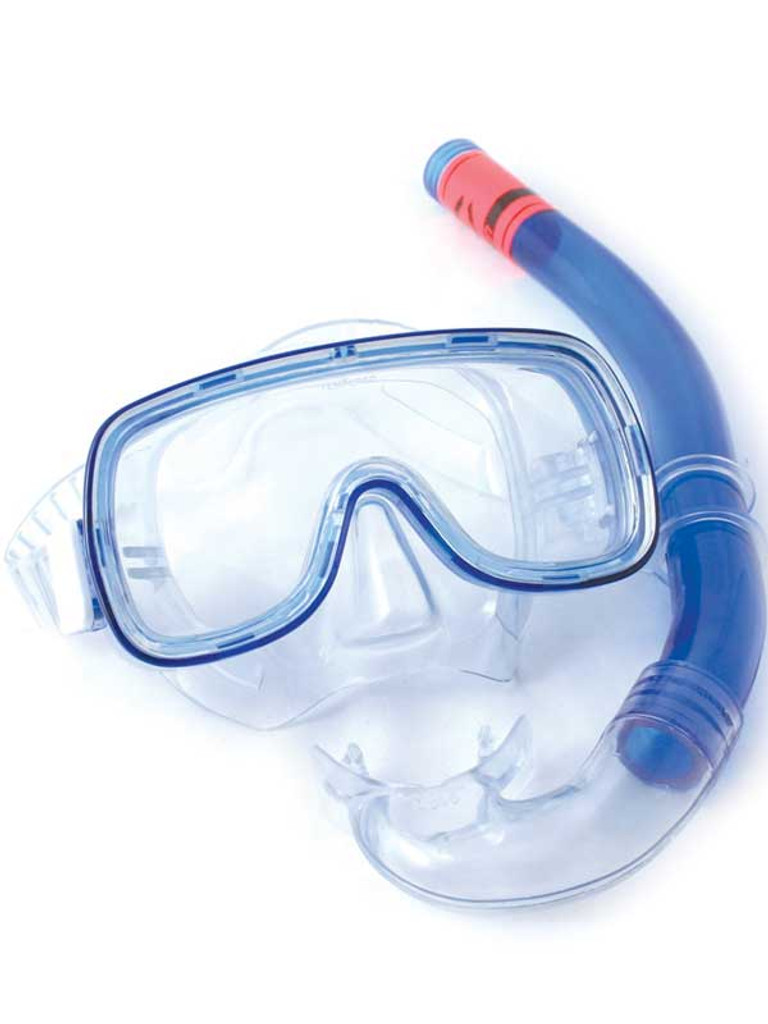 Mens Free Dive Mask - Blue