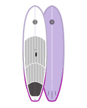Cruiser Epoxy/Bamboo SUP Board - Mauve 9'6""