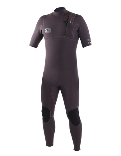Mens Zero Zip Short Arm Steamer - 2/2mm