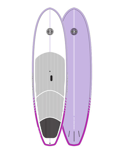 Cruiser Epoxy/Bamboo SUP Board - Mauve 10'0""
