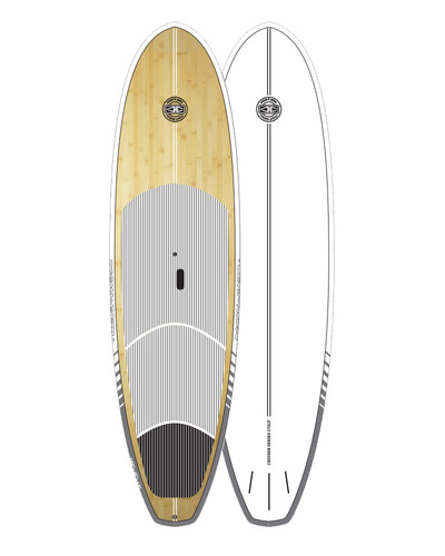 Cruiser Epoxy/Bamboo SUP Board - White 10'6""