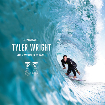 Tyler Wright |  2017 WSL Champ