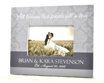 Damask Style Wedding Picture Frame