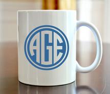 Circle Monogram Coffee Mug