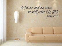 As For Me And My House, We Will Serve The Lord Wall Decal