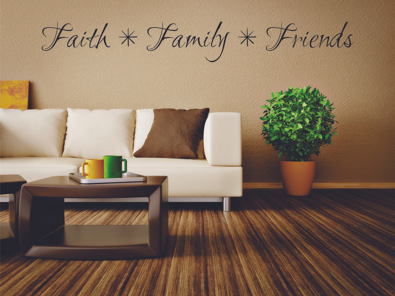 Faith Family Friends Wall Decal | Faith Family Friends Sign