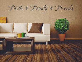 Faith, Family, Friends Wall Decal