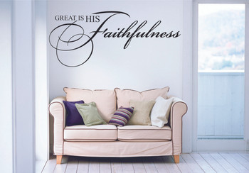 Great Is His Faithfulness Wall Decal