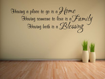 Home, Family, Blessings Wall Decal