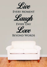 Life, Laugh, Love Wall Decal