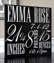 Personalized Newborn Baby Sign