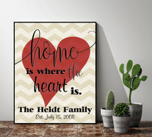 Personalized Home Is Where The Heart Is Sign