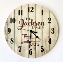 Personalized Rustic Clock