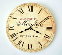 Personalized Antique Finish Clock