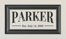 Personalized Family Glass Frame